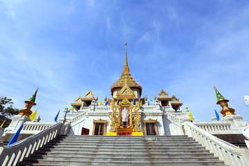BANGKOK, THAILAND - December 15, 2014: Wat Traimit, Famous for i