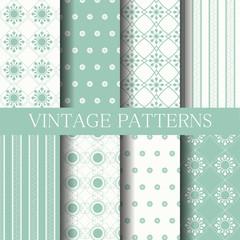 blue vintage patterns