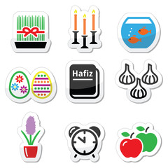 Nowruz - Persian New Year icons set