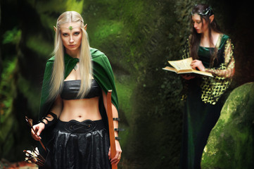 sexy girl elves in the mountains