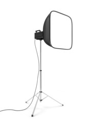 Photo Studio Lighting Equipment isolated on white background