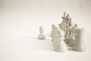 Chess strategy: points of view (main focus on King and pawn)