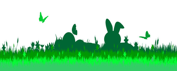 Vector illustration with Easter theme.