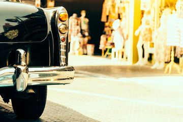 Vintage light lamp car