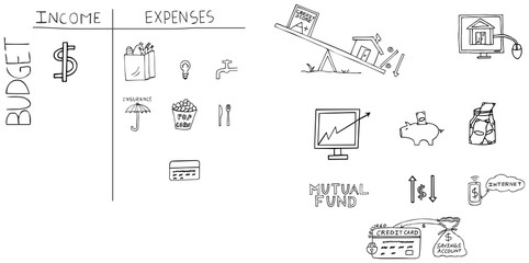 Personal Finance Hand Drawn Images