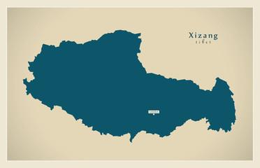 Modern Map - Xizang / Tibet CN