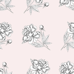 Seamless pattern with peony11-05