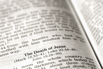 death of jesus bible text
