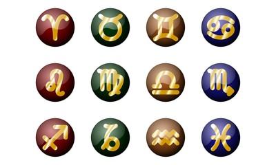vector zodiacal signs