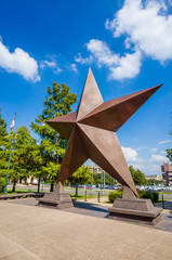 Wall Mural - Texas Star in front of the Bob Bullock Texas State History Museu