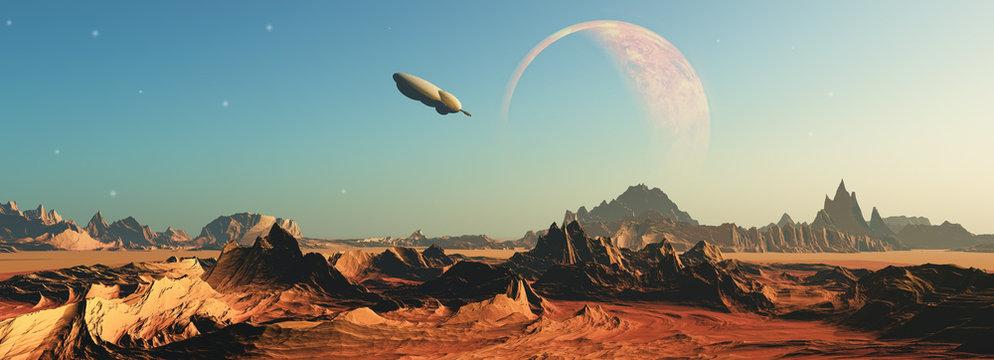 3D fictional space scene