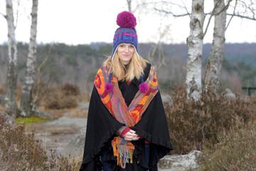 jeune femme hiver