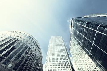 Fototapete - Modern buildings in London, Canary Wharf