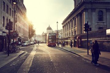 sunset near Trafalgar square, London, UK