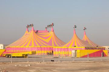 Circus tents in Abu Dhabi, United Arab Emirates