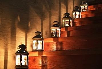 Lanterns on a Staircase