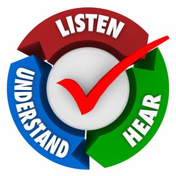 Listen Hear Understand Arrows Learning System Cycle