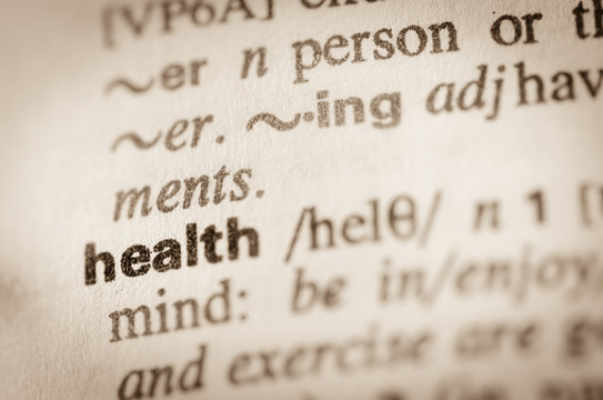 Dictionary definition of word health