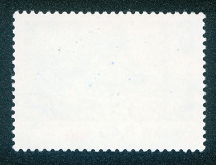 post stamp reverse side isolated on black