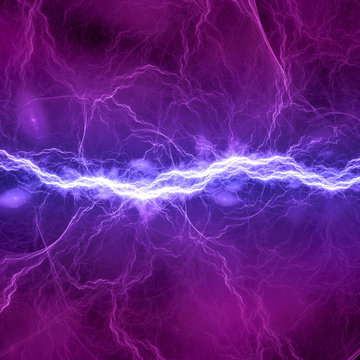 Blue and purple electric lighting