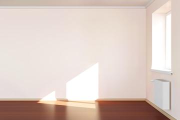 Modern Empty Room 3D Interior in Light Tones