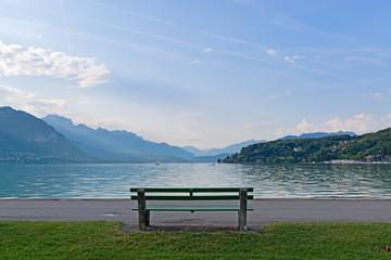 Bench on a lake