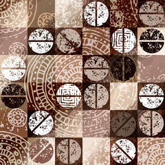 Coffee background with grunge elements.
