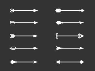 Vector illustration set of Arrows