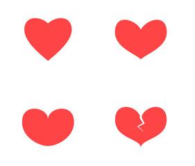 Love symbols set