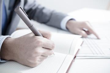 Man Analysis Business. Accounting