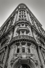 Fotomurales - New York building - Facade and architectural details - Black & W