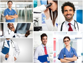 Portrait of doctors at work