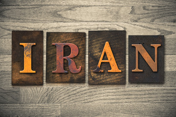 Iran Wooden Letterpress Concept