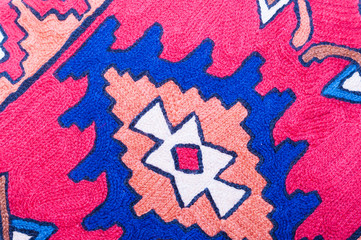 Close up of Middle Eastern pattern fabric