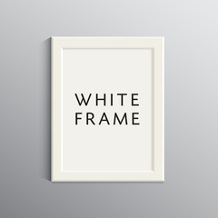 vector white 3d frame for A4