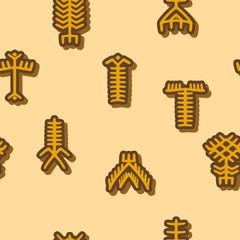 Seamless background with Touareg tattoo symbols