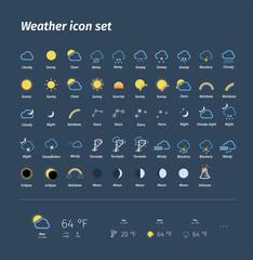 Weather icon pack! Megapack, icon set.