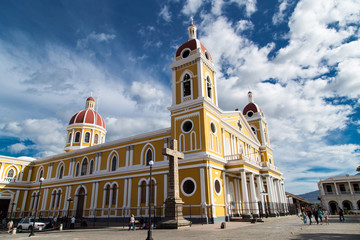 Cathedral Outdoors view from Granada, Nicaragua.