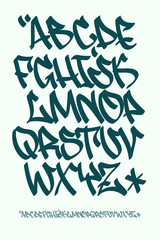 Graffiti font - Hand written - Vector alphabet