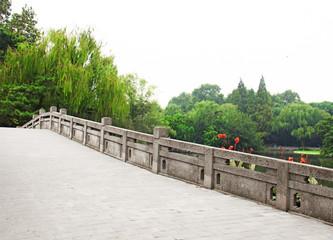 stone bridge in a beautiful park