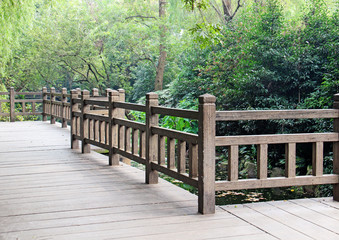 beautiful park with a wooden floor