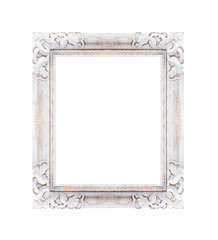 white frame is isolated on white background