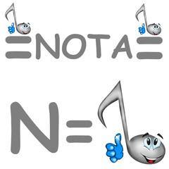 n nota musicale