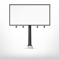 Blank black billboard, vector illustration.