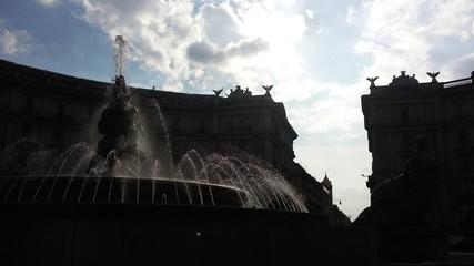 Roma fontana di piazza Esedra