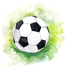 A drawing of a football (soccer) ball