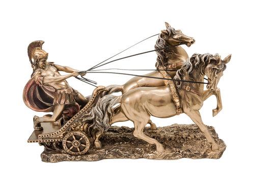 Greek warrior on chariot