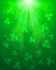 Green Patricks day background