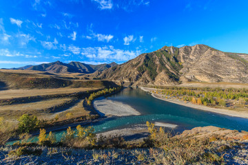 Zelfklevend Fotobehang Diepbruine nature of Altai