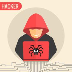 Computer hacker spread a net